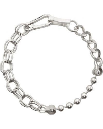 Бальное серебряное ожерелье Heron Preston