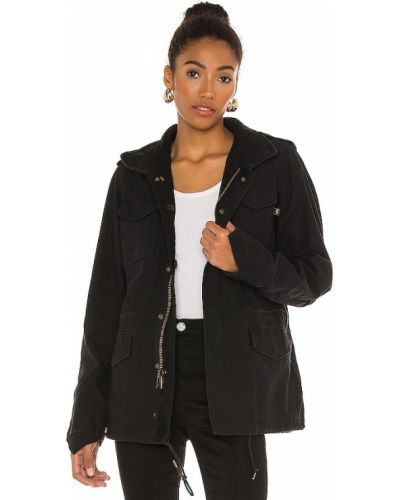 Черная куртка с капюшоном милитари Alpha Industries