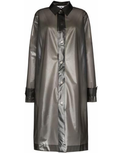 Черное пальто классическое с воротником с капюшоном Ten Pieces
