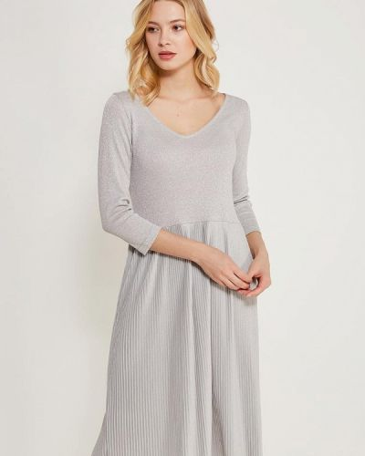 Платье осеннее серебряного цвета Incity