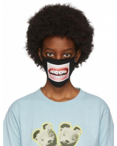 Ватная хлопковая черная маска для лица стрейч Marc Jacobs