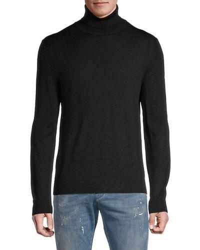 Прямой мягкий шерстяной длинный свитер Saks Fifth Avenue
