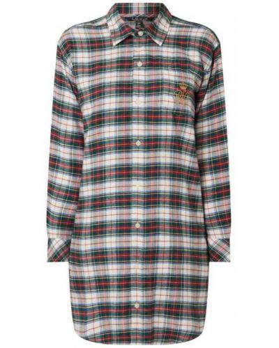 Koszula nocna bawełniana - zielona Lauren Ralph Lauren