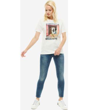 Укороченные джинсы скинни синие Miss Sixty