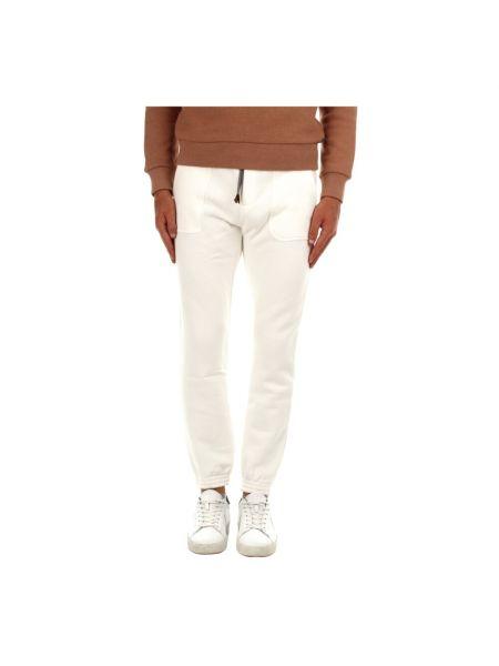 Białe spodnie sportowe Eleventy