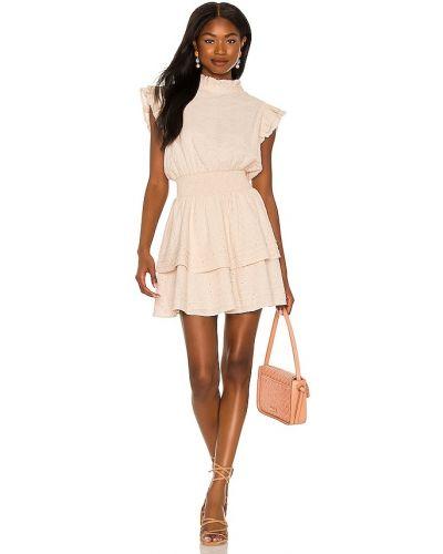 Beżowa sukienka mini bawełniana Cleobella