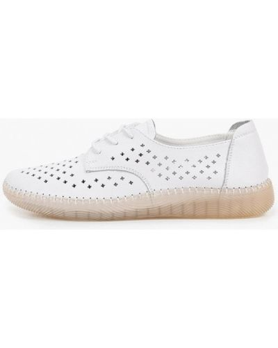 Кожаные белые ботинки Francesco Donni