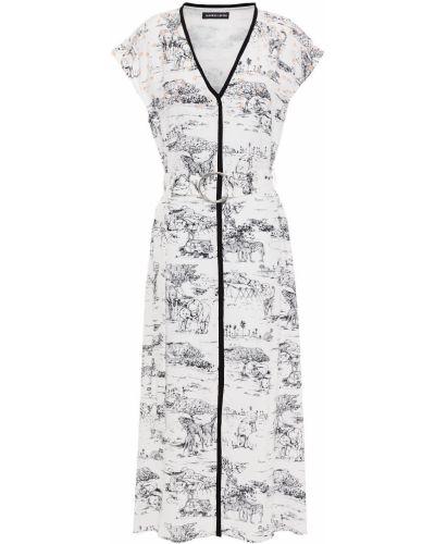 Платье миди с пайетками - белое Markus Lupfer