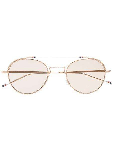 Złote okulary - różowe Thom Browne Eyewear