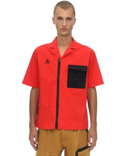 Koszula krótki rękaw z haftem z nylonu Nike Acg