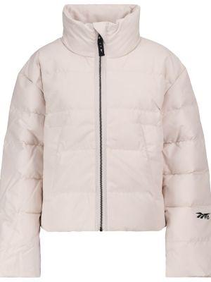 Бежевая стеганая куртка Reebok X Victoria Beckham