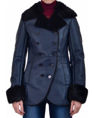 Кожаное пальто осеннее пальто Trussardi Jeans