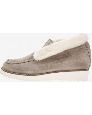 Лоферы замшевые серые Rabbit Loafers