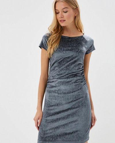 Платье серое осеннее Coclo