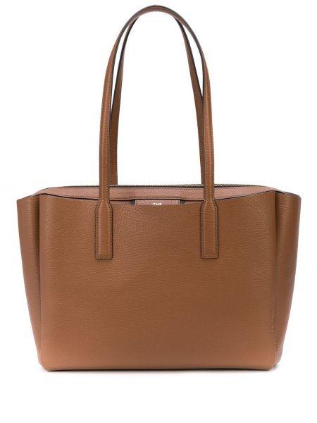 Skórzana torebka na ramię z uchwytem Marc Jacobs