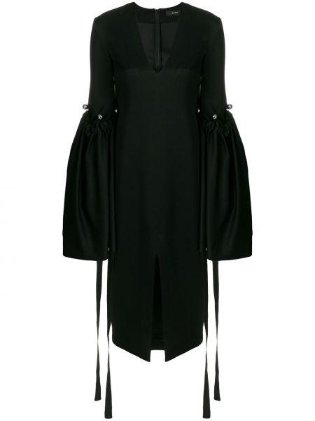Czarna sukienka długa z dekoltem w serek Ellery