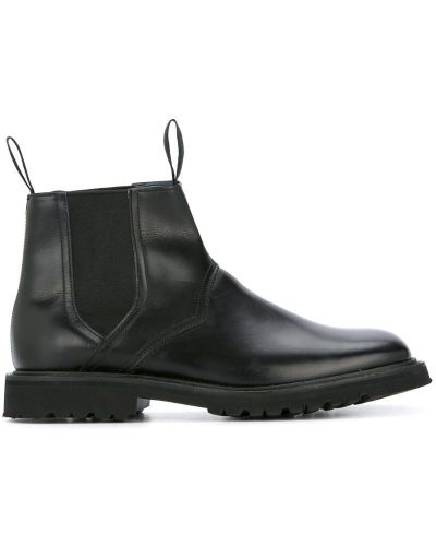 Ботинки челси кожаные черные Mackintosh 0002