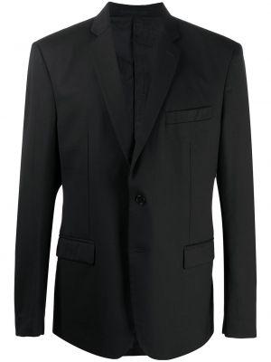 Однобортный черный пиджак с карманами на пуговицах Versace Pre-owned