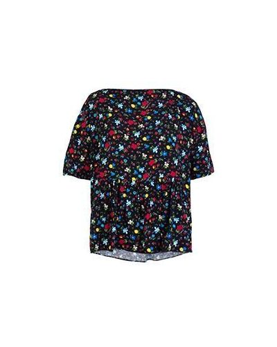 Черная повседневная блузка Moschino Love