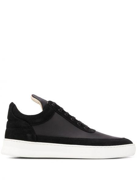 Skórzane sneakersy z logo czarne Filling Pieces