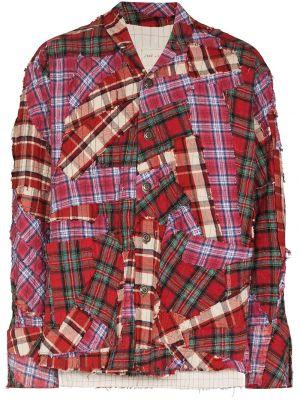 Красная хлопковая рубашка Greg Lauren