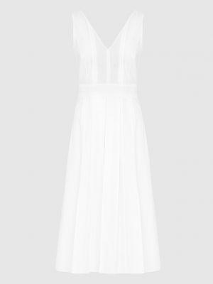 Белое платье миди Loro Piana