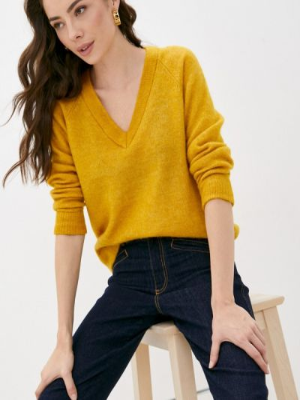 Пуловер - желтый Selected Femme