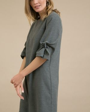 Повседневное платье миди - серое Emka