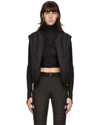 Черная стеганая жилетка с карманами с воротником без рукавов Hyein Seo