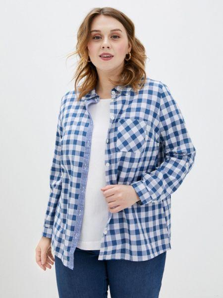 Рубашка с длинным рукавом синяя Ulla Popken