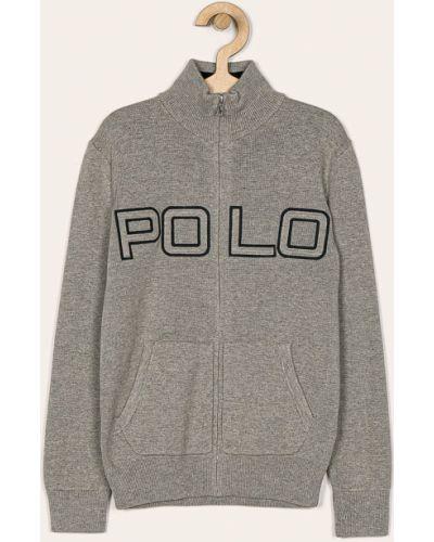Szary kardigan dzianinowy Polo Ralph Lauren