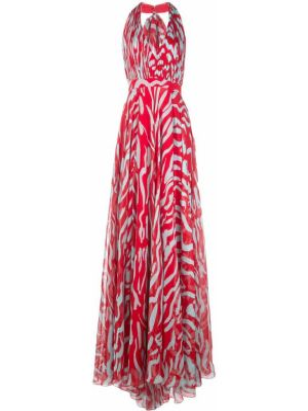 Шелковое платье - красное Prabal Gurung