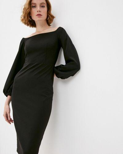 Черное платье с открытыми плечами Irma Dressy