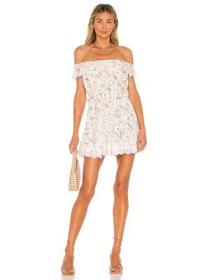Biała sukienka mini bawełniana Tularosa