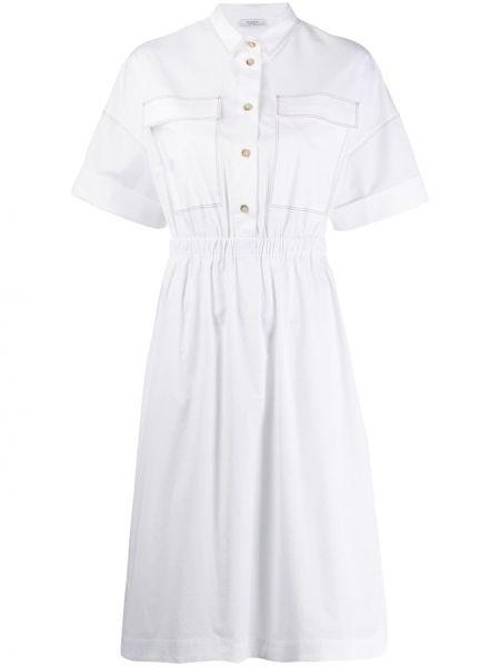 Платье с поясом на пуговицах классическое Peserico