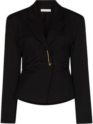 Черный пиджак длинный Rejina Pyo