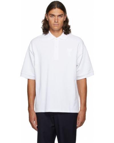 Koszulka bawełniana - biała Ami Alexandre Mattiussi