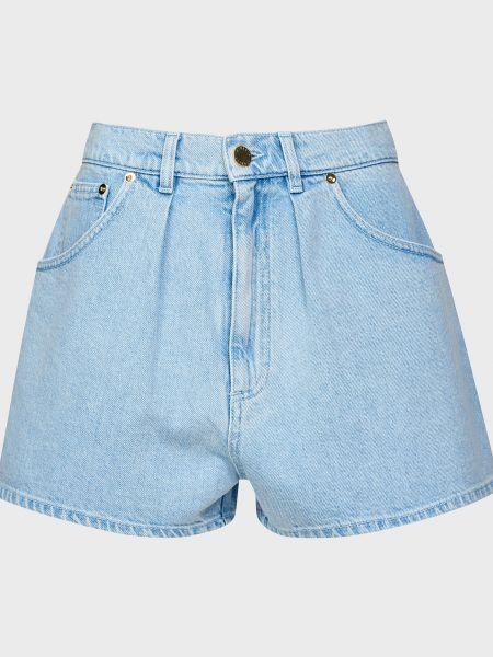 Хлопковые шорты - голубые Alberta Ferretti