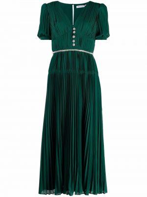 Зеленое платье короткое Self-portrait