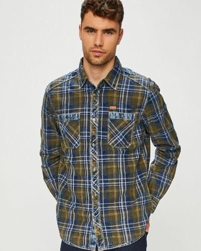 Koszula dzinsowa klasyczny w kratę Tom Tailor Denim