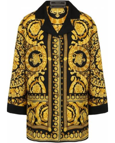 Желтая блузка Versace