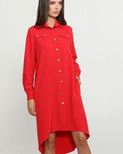 Платье платье-рубашка красный Mari Vera