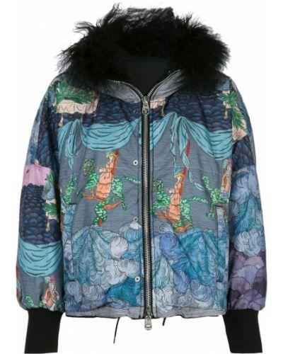 Куртка с капюшоном длинная с вышивкой Tsumori Chisato