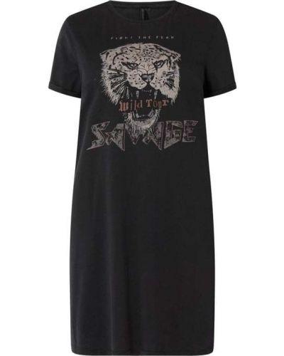 Sukienka mini z printem - czarna Only Carmakoma