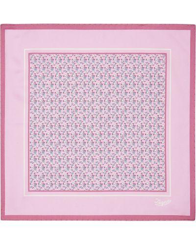 Różowy szalik z jedwabiu z printem Ermenegildo Zegna