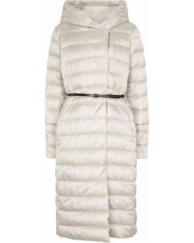 Белое дутое пальто Max Mara