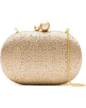 Золотистая желтая сумка с подкладкой со стразами Isla