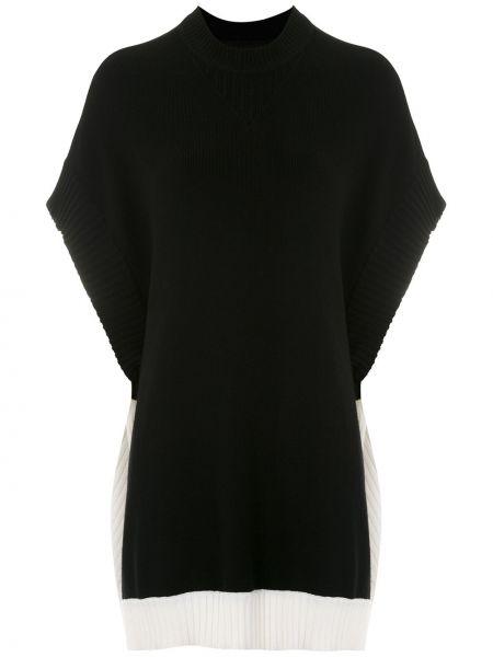 С рукавами черная блузка свободного кроя из вискозы Gloria Coelho
