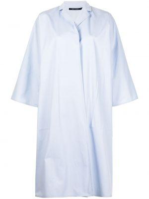 Хлопковый синий удлиненный пиджак оверсайз Sofie D'hoore