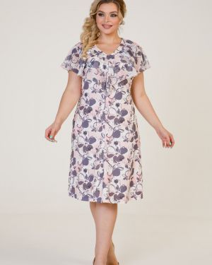 Платье с V-образным вырезом шифоновое марита